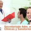 secretariado administrativo de clinicas y sanatorios en Venado Tuerto